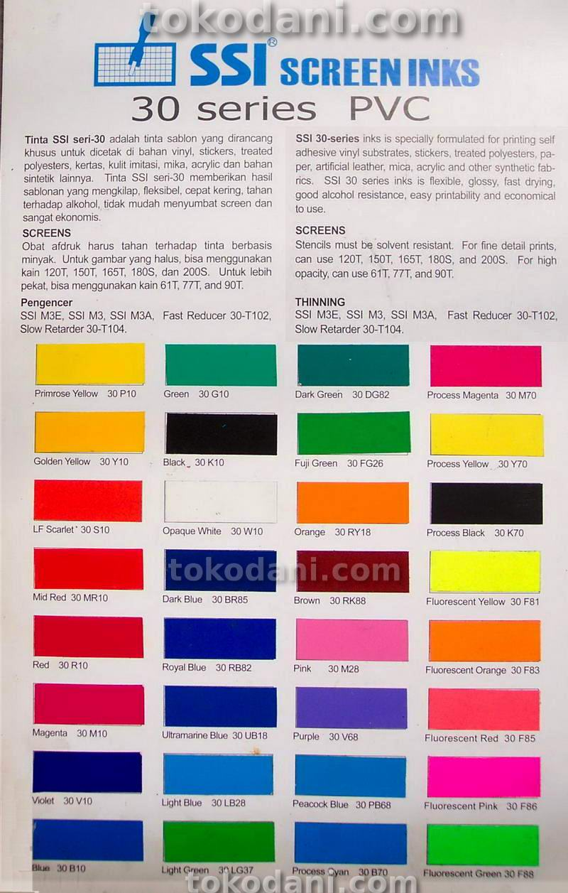 Contoh Warna Tinta SSI