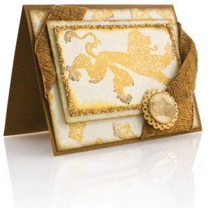 Use of embossing powder and glitter